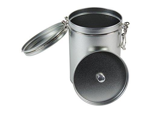 mikken 1 x Kaffeedose/Teedose Rund & luftdicht für 250g mit Bügelverschluss und Aromadeckel,...