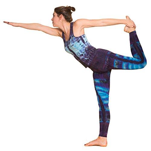 Panasiam® qualitäts Leggings & Tops, aus Naturmaterial, passt M bis L, skinny & stretchy, super wohlfühl Top N007 Lila-line