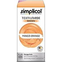 Simplicol Textilfarbe intensiv I Textilfärbung für die Waschmaschine I Färbemittel und Fixierpulver | Mango-Orange 1802