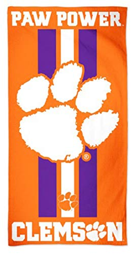 Wincraft Clemson University Tigers Strandtuch, Gameday Stripes Edition, 76,2 x 152,4 cm University Tigers