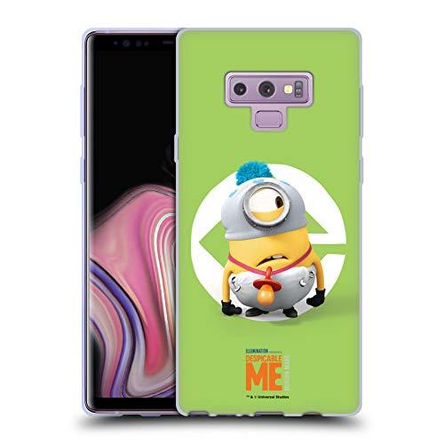 Head Case Designs Offizielle Despicable Me Stuart Baby Kostuem Minions Soft Gel Huelle kompatibel mit Samsung Galaxy Note9 / Note 9