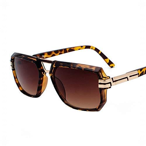 WULE-RYP Polarisierte Sonnenbrille mit UV-Schutz Retro Square Frame Sonnenbrillen Punk Sonnenbrillen literarischen Fan Flache Brille. Superleichtes Rahmen-Fischen, das Golf fährt (Farbe : B)