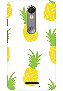 AMEZ designer printed 3d premium high quality back case cover for Moto X Force (pineapple)