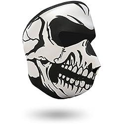 iXium Full Face Masque en néoprène Sports de plein air Cagoule Bandana BMX Moto motard Quad Ski masques filtre-Blanc Tête de mort