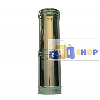CHEMINEE PAROI SIMPLE TUYAU TUBE INOXIDABLE AISI 316 - dn 160 elemento telescopico canna fumaria tubo acciaio inox 316 parete semplice