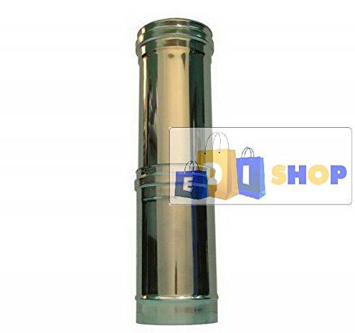 CHEMINEE PAROI SIMPLE TUYAU TUBE INOXIDABLE AISI 316 - dn 300 elemento telescopico canna fumaria tubo acciaio inox 316 parete semplice