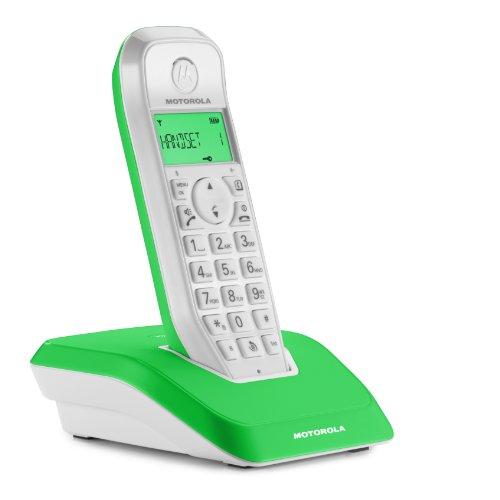 Motorola Startac S1201 DECT Schnurlostelefon (Freisprechen, ECO-Modus, Displaybleuchtung auf Gerätefarbe abgestimmt) grün