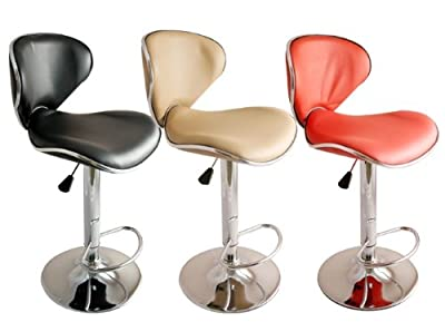New Faux Leather Kitchen Breakfast Bar Stool Barstools Black Cream Red Pu Swivel