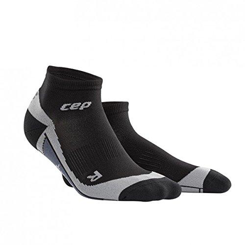 CEP LOW CUT SOCKS Herrensocken Herren Socken Compression Run Running Sportsocken (schwarz/grau, IV-(42-44 cm)) (Low Schuhe Socks Cut)
