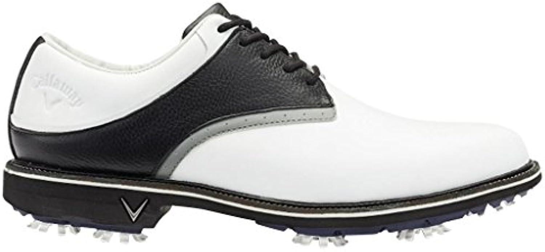 Callaway Apex Tour Zapatillas de Golf, Hombre, Blanco (White/Black), 47 EU