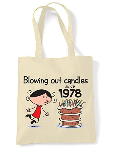 Blowing Out Candles Since 1978 40th Birthday Tote / Shoulder Bag. Place gift vouchers inside for an extra surprise!