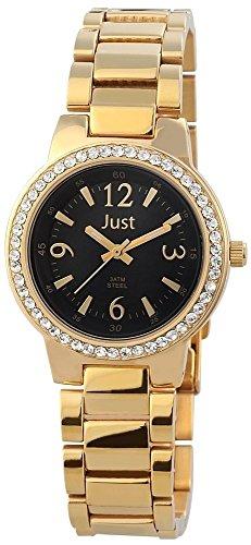 Just Watches Orologio da polso da donna al quarzo in acciaio inox XS 48s3976a DG BK