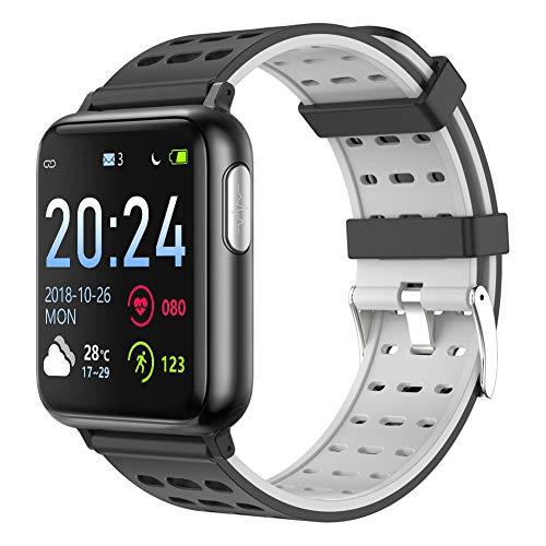 XMYL Fitness Tracker, ECG + PPG Smartwatch Wasserdicht IP67 Fitness Armband mit Pulsmesser Überwachung des Blutsauerstoffs Aktivitätstracker für Samsung Huawei Android IOS Smartphone,E