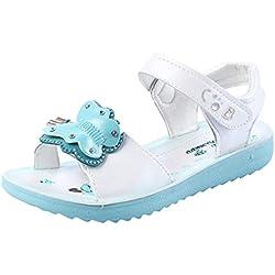 Sandales Fille Ete Chaussures Souples en Cuir Artificiel,Filles Enfants D'éTé Sandales Rome Chaussures Princesse,BéBé Garcon Mariage Plastique Romaine Chaussures pour Enfants Les Danses Sportives