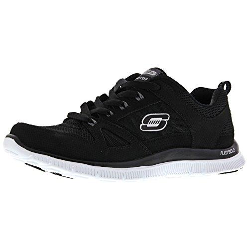 Skechers Flex Appeal Spring Fever, Sneaker Basse Donna Bianco/Argento