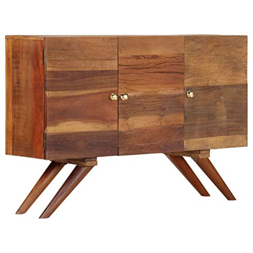 Tidyard Sideboard Recyceltes Massivholz Braun 110 x 30 x 75 cm Möbel Schränke Buffets & Sideboards -
