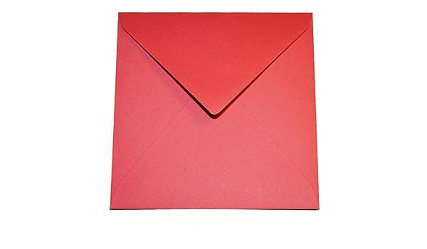 100/G//M/² /Triangolare Con Fodera Interna//chiusura 50/Buste quadrate/ /Rose Rosso 146/X 146/mm 14,6/x 14,6/cm/ feuchtkl ebend//Grammatura