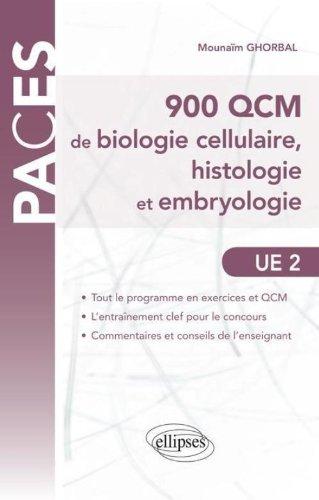 900 Qcm de Biologie Cellulaire Histologie & Embryologie UE2