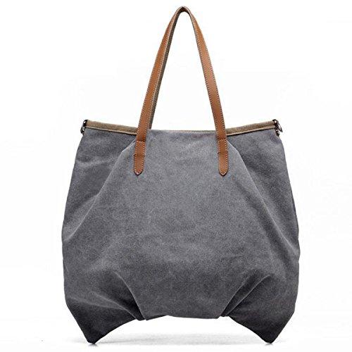 Delle Donne Hobo Della Tela Signore Casuali Vintage Giornaliera Borsellino Superiore Spalla Manico Tote Shopper Handbag Beige