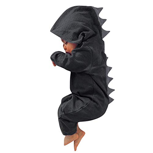 Selou Babyjunge Dinosaurier Hoodie Kinderoverall Reißverschlußkleidung für Kinder OverallWarme süße Nachtwäsche Pyjamas Kletteranzug Ha Yi Herbst- und Wintersaison sets