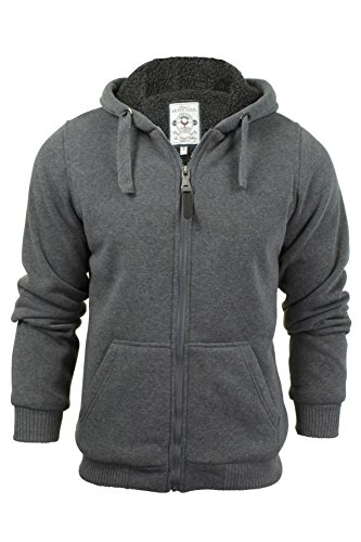 brave-soul-zone-mens-zip-through-hoody-jumper-charcoal-grey-x-large