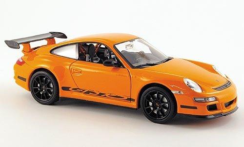 Porsche-911-GT3-RS-997-orange-Modellauto-Fertigmodell-Welly-124