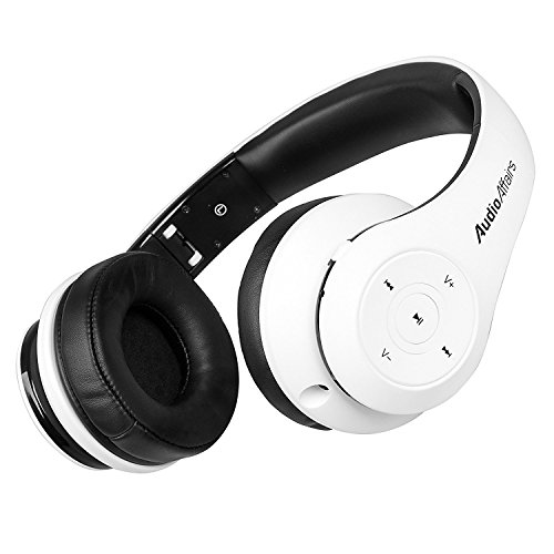 AudioAffairs Bluetooth On-Ear Kopfhörer-Set mit Bluetooth Sender, 4.0 Stereo-Headset mit NFC & Freisprecheinrichtung - Nur erhältlich auf Amazon.de