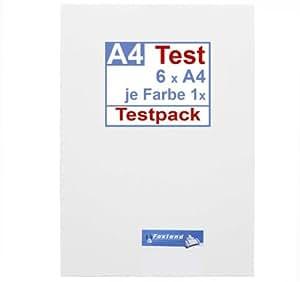 Test Pack Selbstklebende Klebe-Folien A4, Muster wetterfest für Farblaserdrucker und S/W Laser, Outdoor, Testpack, Testset