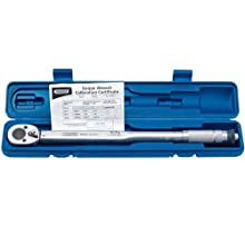 """Draper 30357 1/2"""" Square Drive 30 - 210Nm or 22.1-154.9lb-ft Ratchet Torque Wrench"""