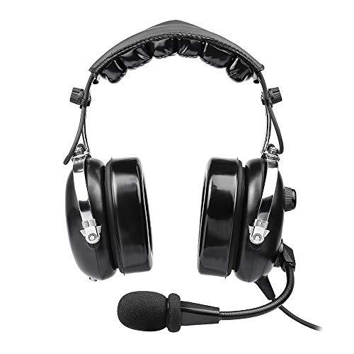 Passive Aviation Headset (Aviation Headset für Piloten, PNR Aviation Headset, komfortable Ohrdichtungen, Passive Geräuschreduzierung, mit Tragetasche,)