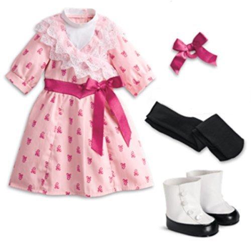 ha's Flower Picking Dress for 18 Dolls in Red Bag by American Girl ()