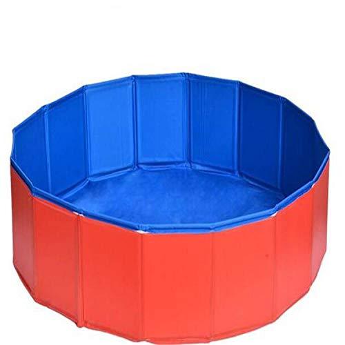 NOBGM Faltbarer Hundepool für Welpen, Haustier drinnen und draußen, runde Form, tragbar, faltbar, langlebig, robust, PVC, kann als Hundebadewanne, für den Außenbereich, Wasserteich, Fischteich, Baby-Badewanne verwendet werden