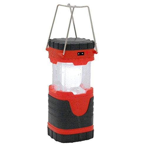 dxable LED Laterne, tragbar outdoor Ultra Bright Wasserdicht Camping Laterne–batteriebetrieben LED für Wandern, Camping, Notfälle Wandern Camp Notfall Aufhängen Licht Lampe Leuchte M rot (Outdoor-camp-licht)