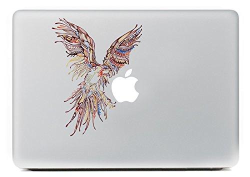NetsPower® New World Fashion Buntes Muster Vinyl Decal Sticker Abziehbild Abziehbilder Aufkleber Power-up Kunst Schwarz für Apple MacBook Pro/Air 13