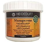 Massagecreme 'Adamare - Vanille' - 100ml festes Massageöl - 100% Natur pur: Bio-Sheabutter mit Bio-Jojobaöl und mit naturreinen ätherischen Ölen der Vanille angereichert - von Heideduft