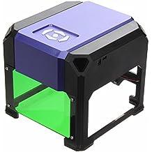 Rishil World 1000mW Laser Engraver DIY Engraving Machine Cutter Logo Printer 8x8cm