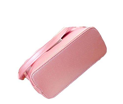 Borsa Borsa Messenger Piccolo Pacchetto Quadrato Sacchetto Battuta Di Bloccaggio Semplice Ms. Pacchetto Casuale Pink