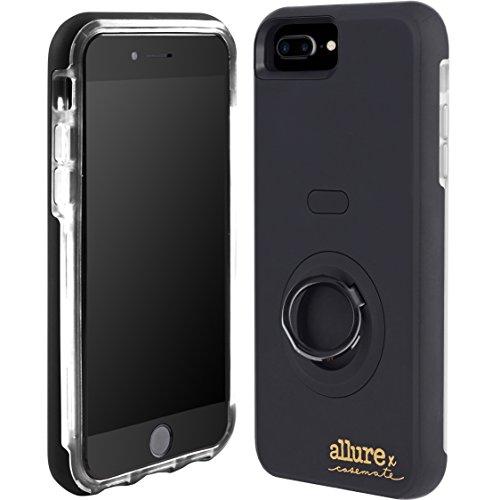 Case-Mate Allure Selfie LED Licht Hülle für iPhone 7Plus/6S Plus/6Plus-Schwarz -