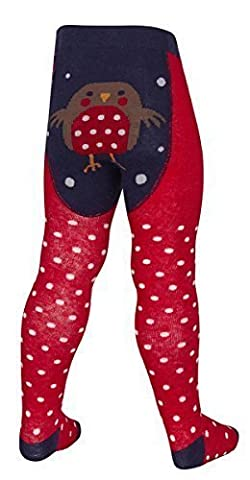 Bébés / Filles / Tout-petits Riche En Coton Noël Fantaisie Collant ~ 0-2 An - Rouge-gorge, 12-18