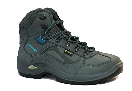 Lowa Chaussures de trekking Stratton DLX Femme GTX Mid Ws All Terrain Gris/Turquoise Gris/turquoise