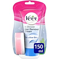 Veet Crema Depilatoria de Ducha Piel Sensible, 150 ml