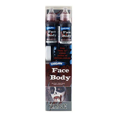 Derivan Face & Body Paint Set Zombie