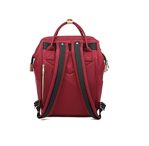 Z&N Multifunktionale kreative Umhängetasche tragbar Dual-Use Mode Casual Bag Schulrucksack Outdoor Radfahren Laufen Wandern Bergsteigen und Tourismus red