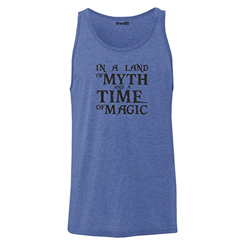 Brand88 - In A Land Of Myth And A Time Of Magic, Unisex Jersey Weste Blau Meliert