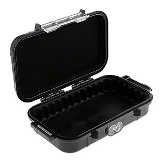 Gazechimp Wasserdichte Boxen. Stoßfeste und Wasserdichte kleine Plastikboxen Outdoor-Ausrüstung Box - Schwarz