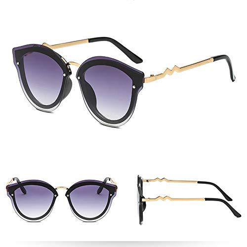 Odjoy-fan occhiali da sole donna specchiati moderni occhi di gatto vintage doppio ponte montatura in metallo uomo polarizzati outdoor sport leggero adatto per guida