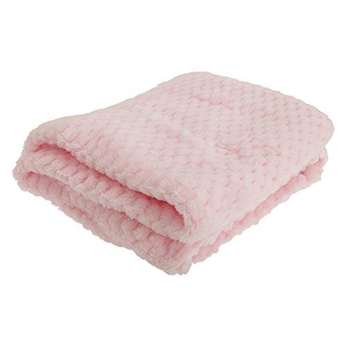 Baby - Manta suave textura niños 75 x 90cm/Rosa