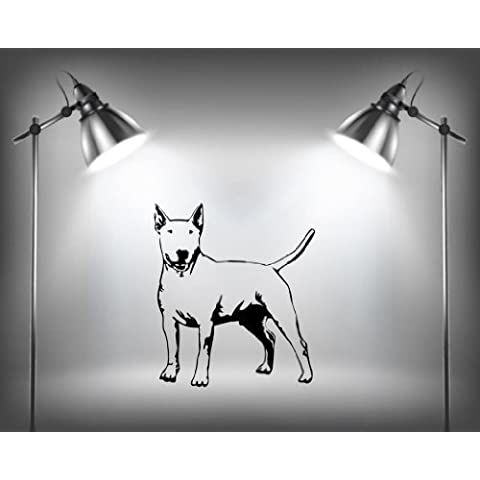 English Bull terrier Cane Razza Adesivo Da Parete Decalcomania Cucciolo Animale - Bordeaux Opaco