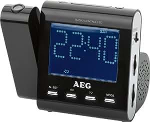 AEG MRC 4122 F N Funkuhrenradio (9,7 cm (3,8 Zoll) LCD Display, UKW-/MW Tuner) blau