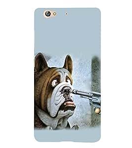 PrintVisa Horrifying Dog 3D Hard Polycarbonate Designer Back Case Cover for Gionee S6